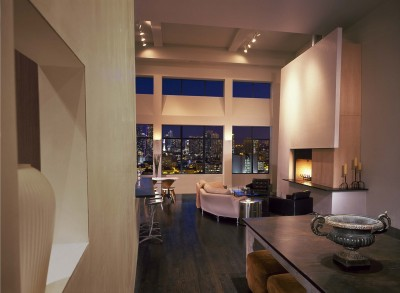 Cool Boston loft with tilted walls…